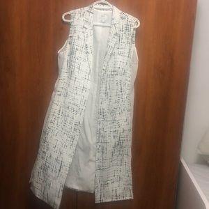 DKNY long vest